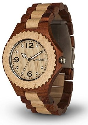 Women's Wooden Watch WINNIE – Wrist Watch made of Hackberry and Maple Wood – Nature, Fashion,Lifestyle