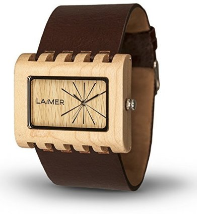 LAiMER Women's Wooden Watch LAURA – Wrist Watch made of natural Maple Wood – Simple Elegance, Nature &Lifestyle